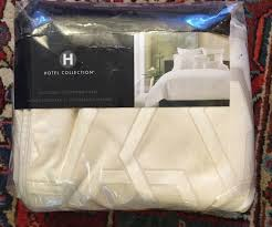 details about nwt hotel collection queen duvet comforter cover cream color