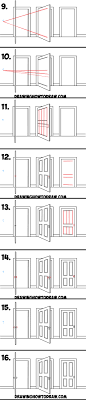 learn how to draw open closed and opening doors in 2 point perspective simple