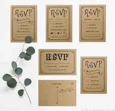 rsvp card template black rustic diy rsvp card mountainmodernlife com
