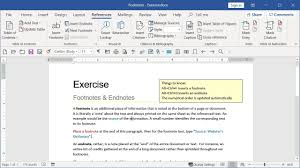 Footnotes Microsoft Word Advanced Goskills
