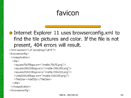 pacs 09 19 15 14 favicon internet explorer 11 uses browserconfig xml
