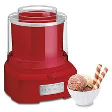 cuisinart 1 5 qt red frozen yogurt and