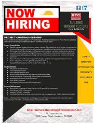 bt construction inc colorado linkedin now hiring flyer btc pc jpg