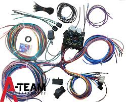 amazon com mophorn 12 circuit wiring harness 12 fuses universal hot rod wires instructions at Universal Street Rod Wiring Harness