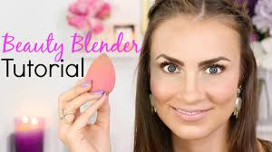 beauty blender tutorial full face makeup look using only the beauty blender no brushes learn how to apply wet and dry face s with the sponge