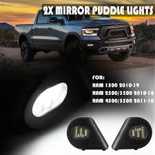 Ram 2500 Mirror Lights Details About 18led Side Mirror Puddle Light For Dodge Ram 1500 2500 3500 4500 5500 2010 19 2x