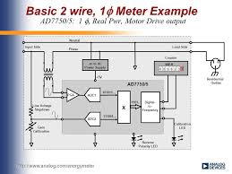 wiring standards single phase 2 wire 120v or 220v single phase 3 basic 2 wire 1  meter example ad7750 5 1 