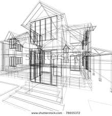 architecture house sketch.  Sketch Abstract Sketch Of House 3d Vector Architecture Illustration Throughout Architecture House Sketch