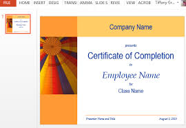 how to make a certificate of completion certificate for training completion template for powerpoint
