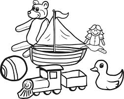 Small Picture Free Printable Christmas Toys Coloring Page for Kids