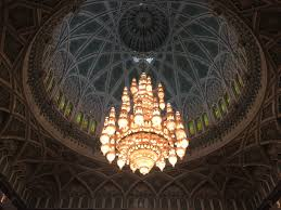 inside the mosque the world s second largest chandelier the tile work inside is incredible