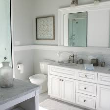 beachy bathroom view full size beachy bathroom with pale gray wall color with framed starfish artwork and thick white chair rail molding