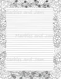 Lined Page Template Impressive Printable Lined Paper With Borders Like This Item Midcitywest