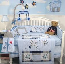 fabulous airplane bedding and white crib