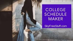Free College Schedule No 1 Print Free Online College Schedule Maker Template