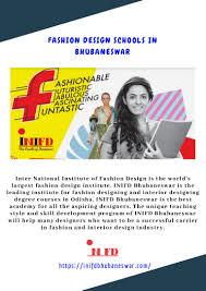 Inifd Fashion Designing Course Fees Fashion Design Schools In Bhubaneswar