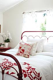 White Upholstered Bed Frame Australia White Upholstered Bed Frame ... & Full Image for White Bedroom With Red Metal Bed Frame And Quilt At The Foot  Of ... Adamdwight.com