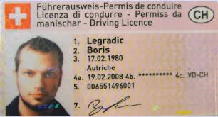 Driving Letters Licence From Lausanne