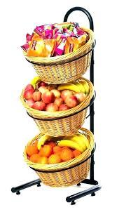 fruit basket stand 2 tier countertop