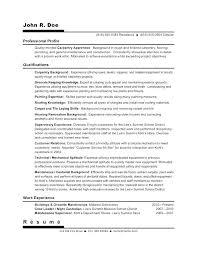 Carpenter Resume Templates Carpenter Resume Examples Journeyman Carpenter Resume Example 56