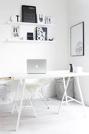 White room ideas Interior Design While This Office Space Doesnt Face The Wall It Still Fills The Work Space With Creative Energy Its Like Blank White Canvas Waiting For The Stroke Of Trendir White Room Interiors 25 Design Ideas For The Color Of Light