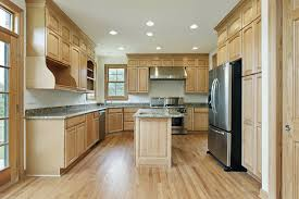 cabinets lighting. Lovely Kitchen Colors With Granite Countertop And Light Wood Cabinets Lighting
