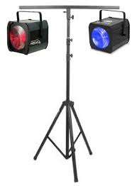 any 2 x disco lights tripod stand with t bar from just 50 plus returnable security deposit