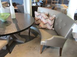 curved settee for round dining table elegant mitchell gold bob williams finley curved bench for round dining