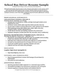 resume school school bus driver resume sample writing tips rc