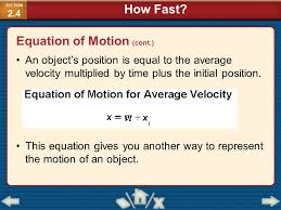 88 equation of motion