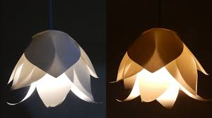 Paper Flower Lamp Diy Flower Lamp Learn How To Make A Paper Flower Lampshade For A Pendant Light Ezycraft
