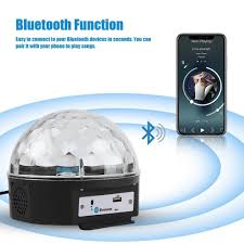 Light Your Candle Mp3 Us 13 79 21 Off Led Music Light Led Stage Light Crystal Magic Ball Light Smart Colorful Portable Bluetooth 4 0 Mp3 Loudspeaker Disco Party In Stage