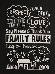 ウォールステッカーfamily Rules手書きイラスト