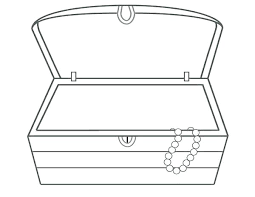 Open Treasure Chest Coloring Page Interesting Treasure Chest