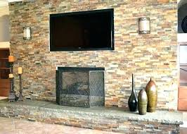 reface fireplace refacing brick tile over best idea refinish with stone