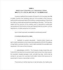 Sample Corporate Minutes Template Corporate Minutes Template Simple