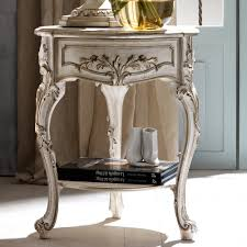 high end italian small round bedside table