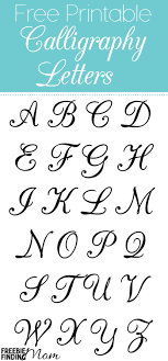 Free Printable Calligraphy Letters | Calligraphy letters, Free ...