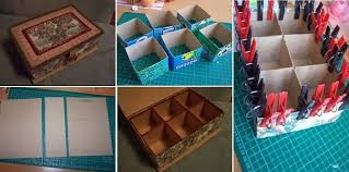 Decorating Cardboard Boxes DIY Cardboard Organizer Box Tutorial GOODIY 57
