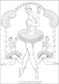 Dance Color Pages Nutcracker Ballet Coloring Book Nutcracker Ballet