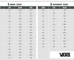 Vans Authentic Size Chart 34 Reasonable Black Label Size Chart