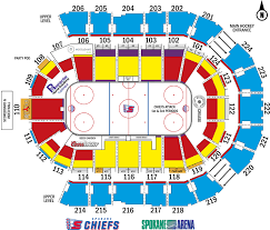 Chiefs Seating Chart With Rows Suites Spokane Chiefs