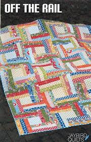 Amazon.com: Off The Rail Quilt Pattern, Fat Quarter Friendly, 4 ... & Off The Rail Quilt Pattern, Fat Quarter Friendly, 4 Size Options Baby to  King Adamdwight.com