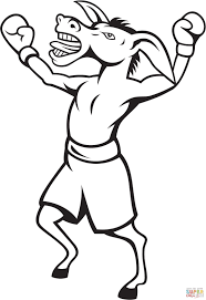 Small Picture Donkey Democrat Boxer Celebrates the Victory coloring page Free