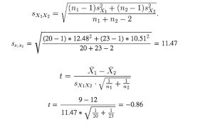 calculate t statistic