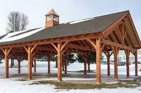 30 x 50 timber frame pavilion at wcsu