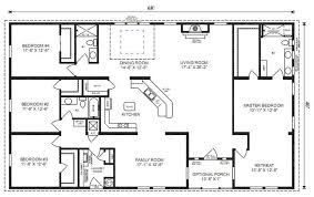 4 bedroom 3 bath house plans. Contemporary House Ranch House Floor Plans 4 Bedroom Love This Simple No Watered Space Plan   Add A Wraparound Porch Garage With Additional Storage Room And It Would Be  In Bedroom 3 Bath House Plans L