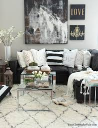 black white living room furniture. Living Room Decor Ideas. Black, White And Creamy Neutrals With Silver Coffee Tables. Black Furniture R