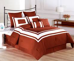 bedspread piece lux decor burnt orange comforter set king size sets queen solid black and white bedding silver dark all gold damask full with trim cream