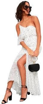 Keepsake The Label White Black Embrace Me Long Casual Maxi Dress Size 10 M 52 Off Retail